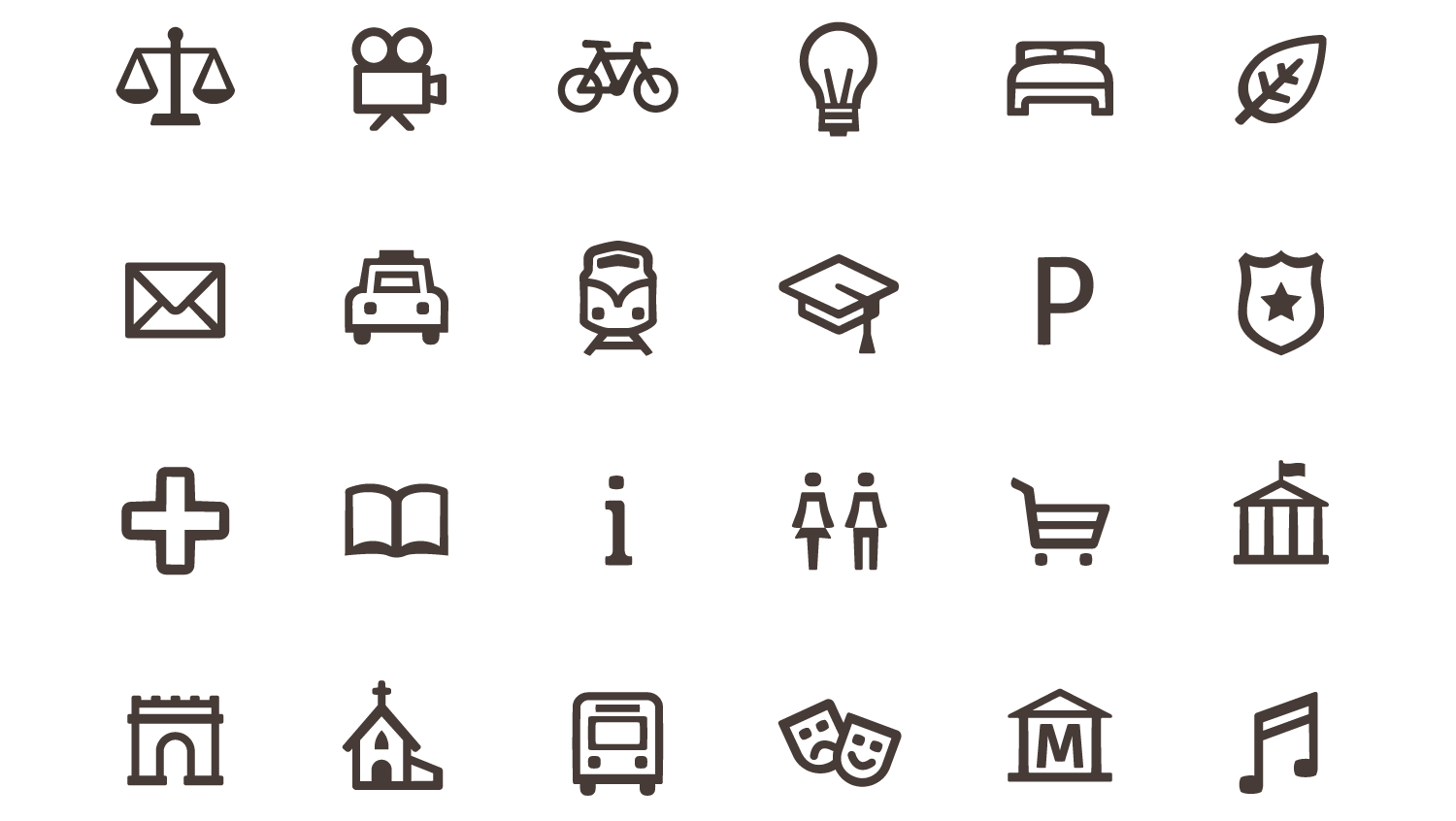 Kielce's Visual Information System - Pictograms and Icons Design